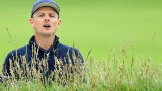 Justin Rose at Pebble Beach in round three
