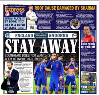 Dernière page de l'Express du dimanche