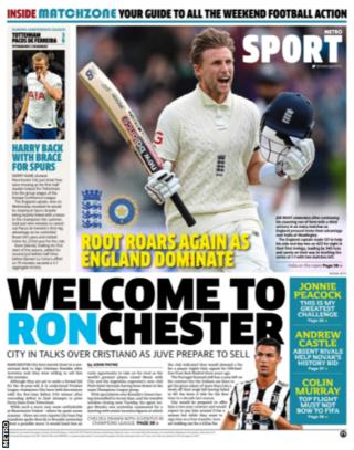 Friday's Metro back page