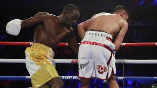 Amir Khan gets hit below the belt
