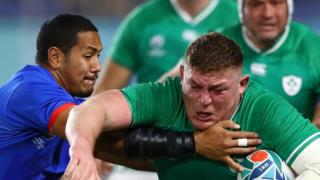 Prop Tadhg Furlong scored Ireland's second try