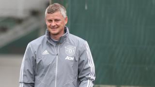 Manchester United's Ole Gunnar Solskjaer