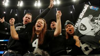 Raiders fans celebrate win at Tottenham