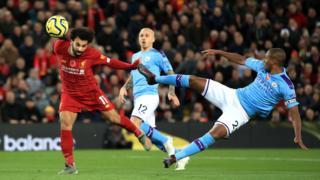 Mohamed Salah scores