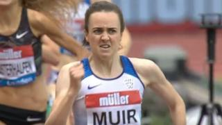Laura Muir on her way to victory