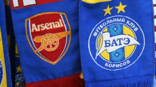 Arsenal v Bate Borisov scarves