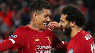 Roberto Firmino and Mohamed Salah