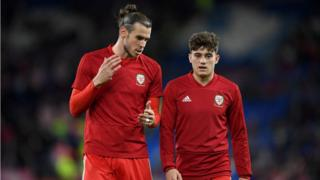 Gareth Bale and Daniel James