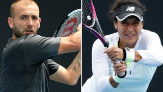 Dan Evans and Heather Watson