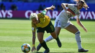 """South Africa""""s defender Janine Van Wyk"""