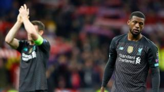 Georginio Wijnaldum after Liverpool's Champions League defeat by Atletico Madrid