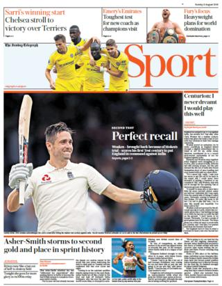 The Sunday Telegraph's sport section