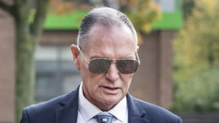 Paul Gascoigne arriving at Teesside Crown Court
