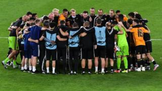 Wolves celebrate Europa League progression