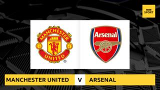 Man Utd v Arsenal promo graphic