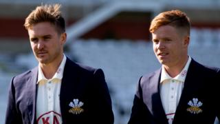 Surrey and England batsmen Jason Roy (left) and Ollie Pope (right)