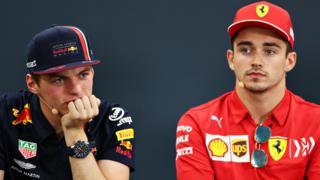 Ferrari's Charles Leclerc and Red Bull's Max Verstappen
