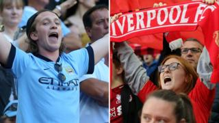 Liverpool and Manchester City fans