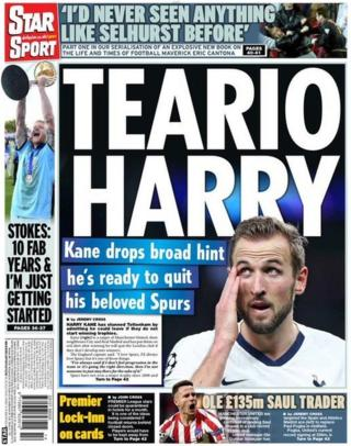 Daily Star back page on Monday, 30 March