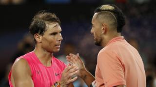 Rafael Nadal and Nick Kyrgios