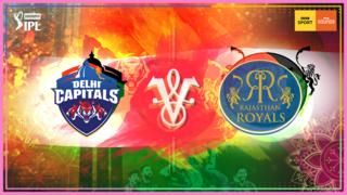 Delhi Capitals v Rajasthan Royals graphic