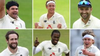 England bowlers