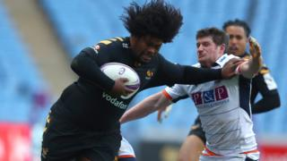Ashley Johnson of Wasps against Edinburgh