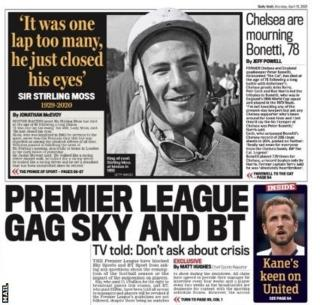 The back page of Monday's Mail
