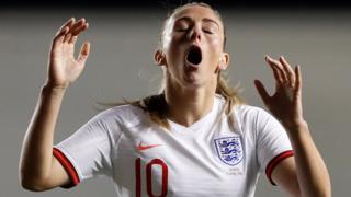 Toni Duggan reacts to a missed opportunity
