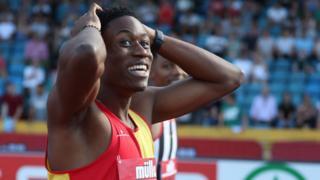 British sprinter Ojie Edoburun