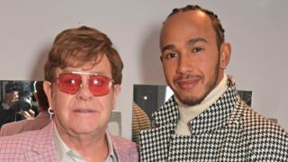 Lewis Hamilton and Elton John