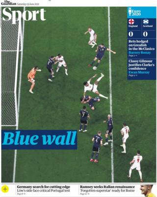 Saturday's Guardian back page