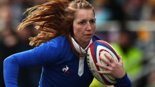 Pauline Bourdon in action for France