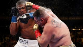 Andy Ruiz punches Anthony Joshua