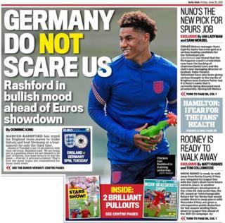 Contraportada del viernes para el Daily Mail