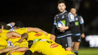 Glasgow's Ali Price against La Rochelle