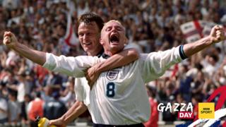 Gazza celebrates index picture