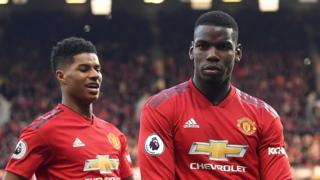 Marcus Rashford and Paul Pogba
