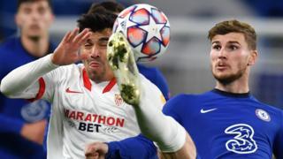 Chelsea v Sevilla in the Champions League
