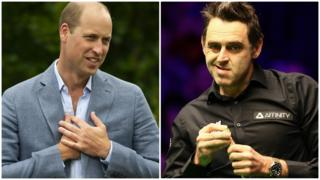 Prince William (left) and Ronnie O'Sullivan
