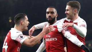 Arsenal celebrate goal