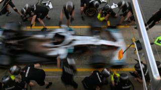Mercedes' Lewis Hamilton
