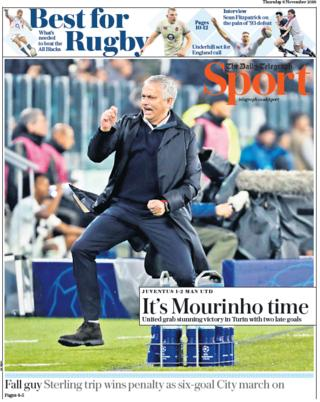 Telegraph sport section