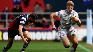 Ollie Thorley in action in Gloucester