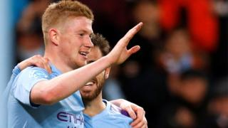 Kevin De Bruyne score Man City's second goal