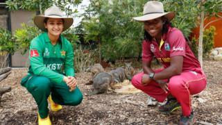 Pakistan captain Bismah Maroof (left) and West Indies captain Stafanie Taylor (right)
