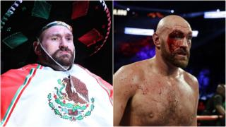 Tyson Fury before and after the fight