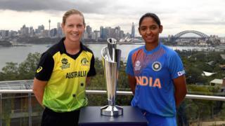 Australia captain Meg Lanning and India skipper Harmanpreet Kaur
