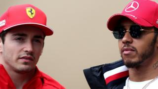 Charles Leclerc and Lewis Hamilton