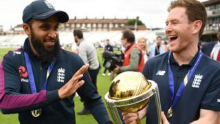 Adil Rashid and Eoin Morgan